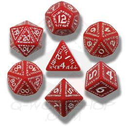 Set of Red and White Rune Dice