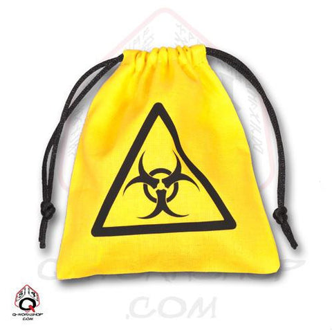 Yellow Biohazard Dice Bag