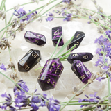 Oblivion Crystal Dice - Purple - With Lavender and Crystals