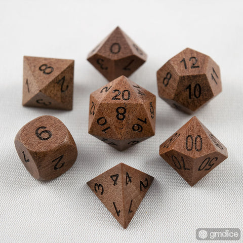 Purpleheart Wooden Dice Set