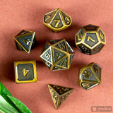 Aged Gold Metal Dice Set