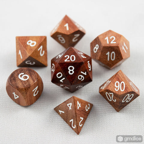 Redwood Wooden Dice Set