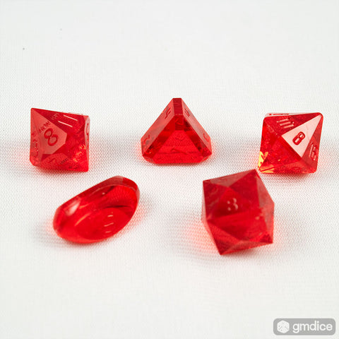 5-Piece Zocchi Originals Gamescience Dice Set (Ruby GEM)