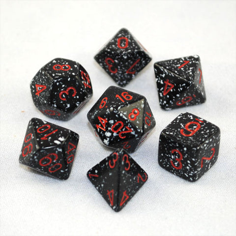 Set of 7 Speckled Space Dice