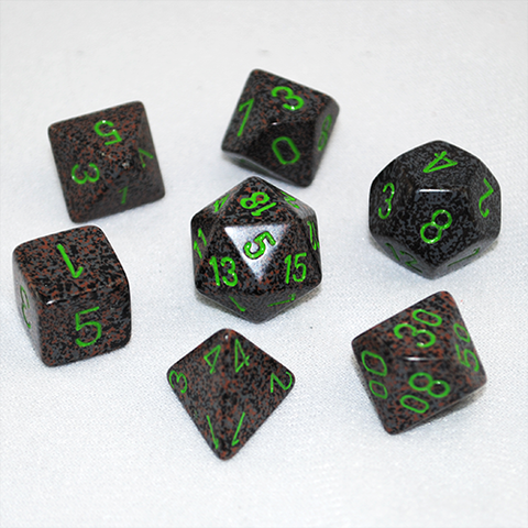 Set of 7 Speckled Earth Dice