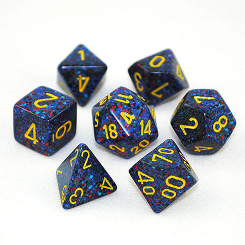 Set of 7 Speckled Twilight Dice