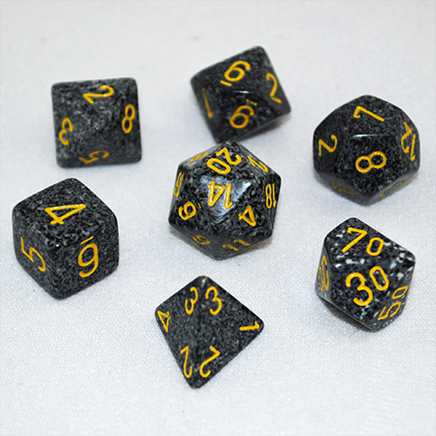 Set of 7 Speckled Urban Dice
