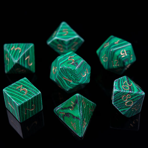 Malachite Dice Set of the Material Plane