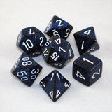 Set of 7 Speckled Stealth Dice