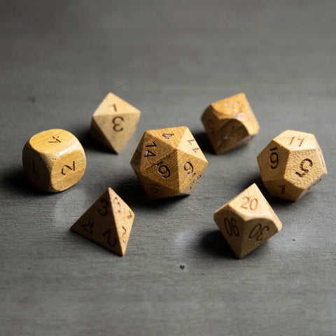 Teak Wooden Dice Set