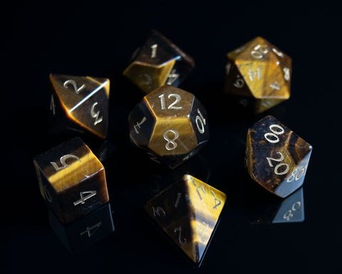 Tiger's Eye Dice Set of True Seeing