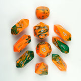 10-Piece Crystal Hybrid Toxic Dice Set