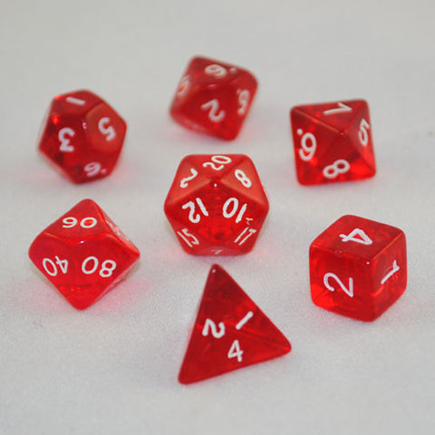 Translucent Red Dice Set