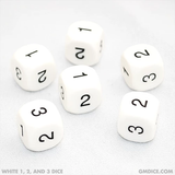 1, 2, and 3 Dice