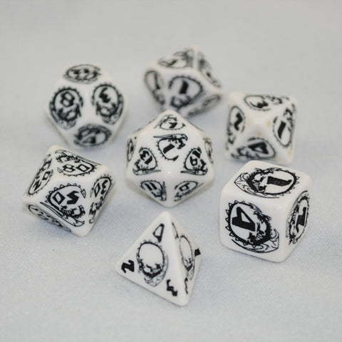 Set of White and Black Dragon Dice