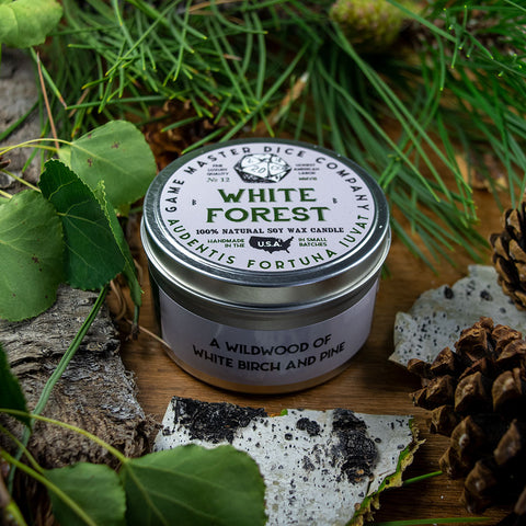 White Forest Gaming Candle