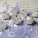 White Quartz Dice Set of Purity