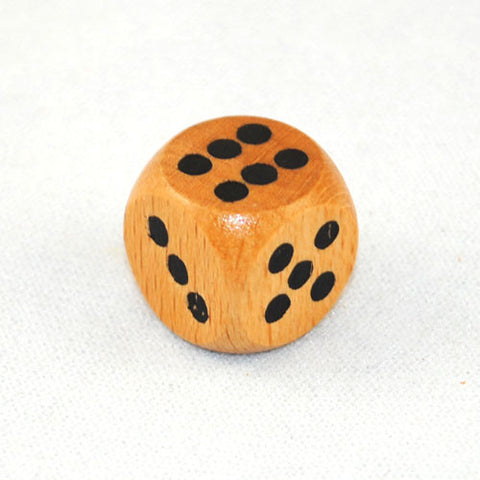 16mm Wood 6 Sided Dice