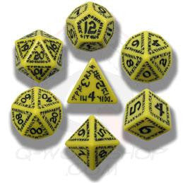 Set of Yellow and Black Rune Dice