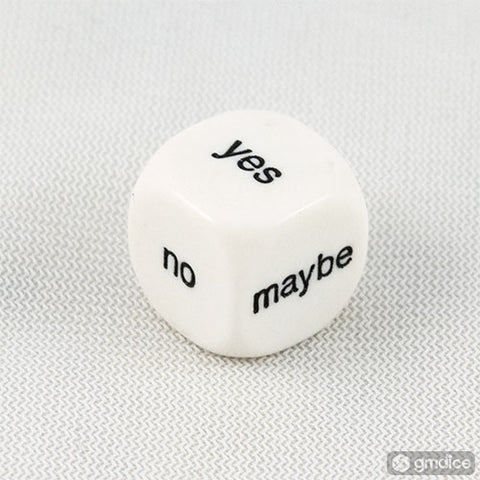 Yes/No/Maybe Decision Dice