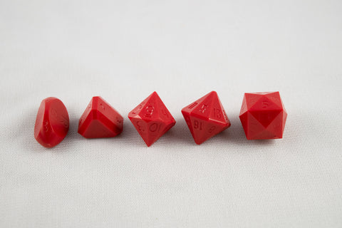 5-Piece Zocchi Originals Gamescience Dice Set (Red)
