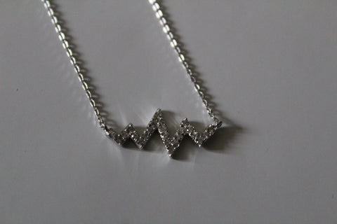 HEARTBEAT CRYSTAL NECKLACE