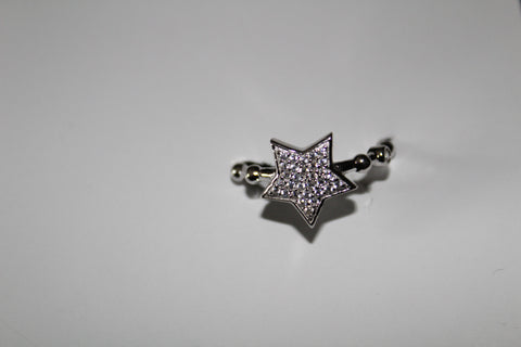 AUSTRIAN CRYSTAL STAR RING PAVE