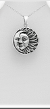 SUN AND MOON .925 STERLING SILVER Necklace