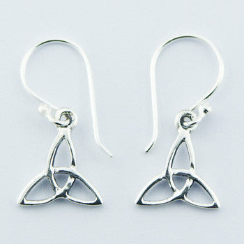 CELTIC TRINITY KNOT EARRINGS .925 STERLING SILVER
