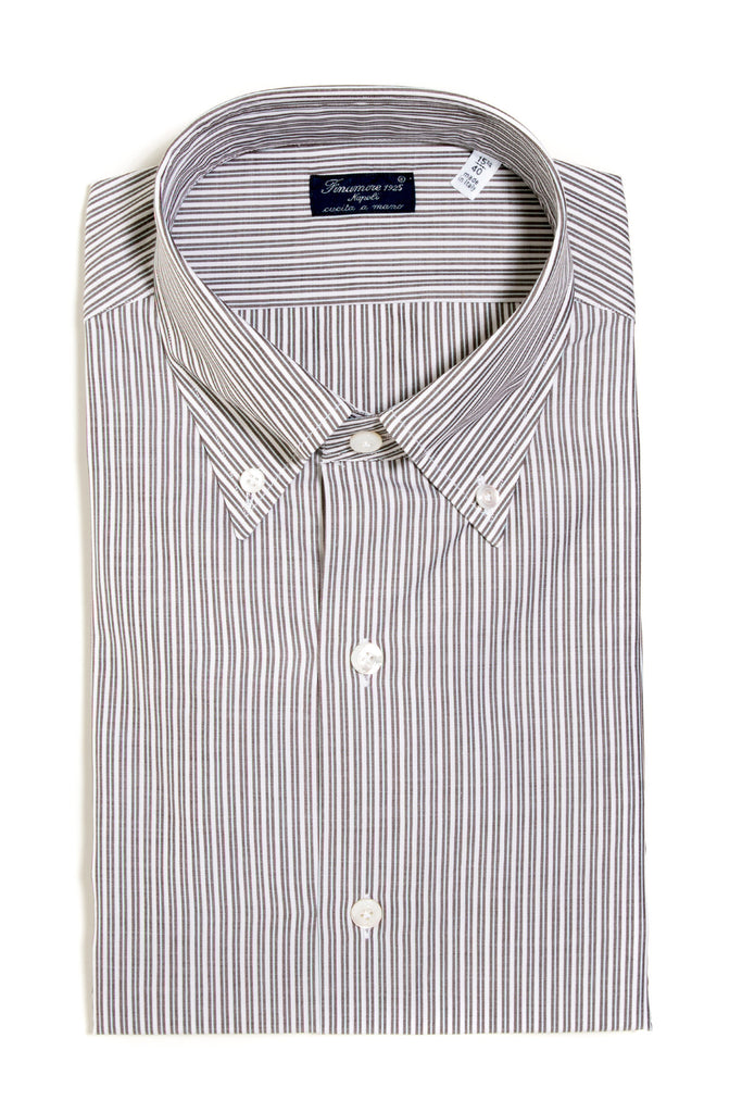 Finamore Goldoni Broadcloth Dress Shirt (147438403608)
