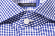 Finamore Tiber Blue Dress Shirt