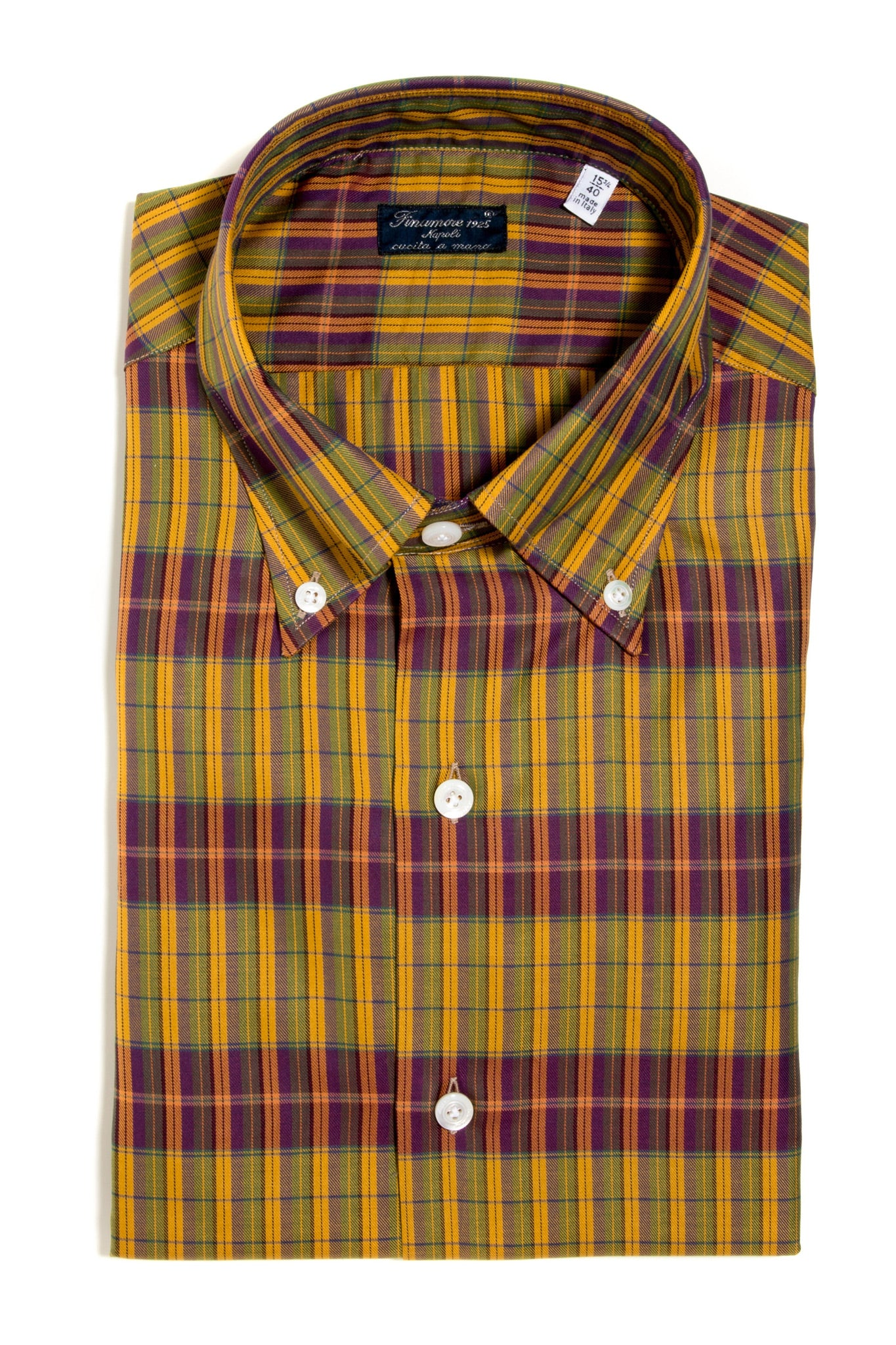 Finamore Manfredi Twill Dress Shirt (147445350424)