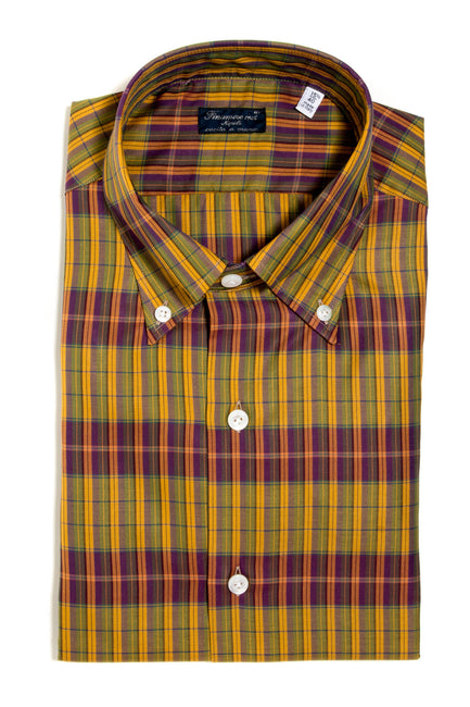 Finamore Manfredi Twill Dress Shirt