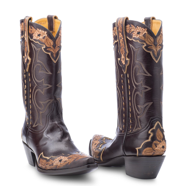 Stallion Boots Hand Tooled Calf - Mens - Cowboy Boots - AXEL'S - 3