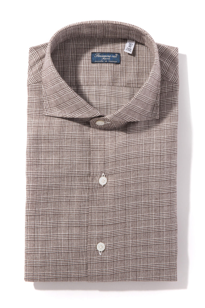 Finamore Liri Twill Flannel Sports Shirt (1302589014109)