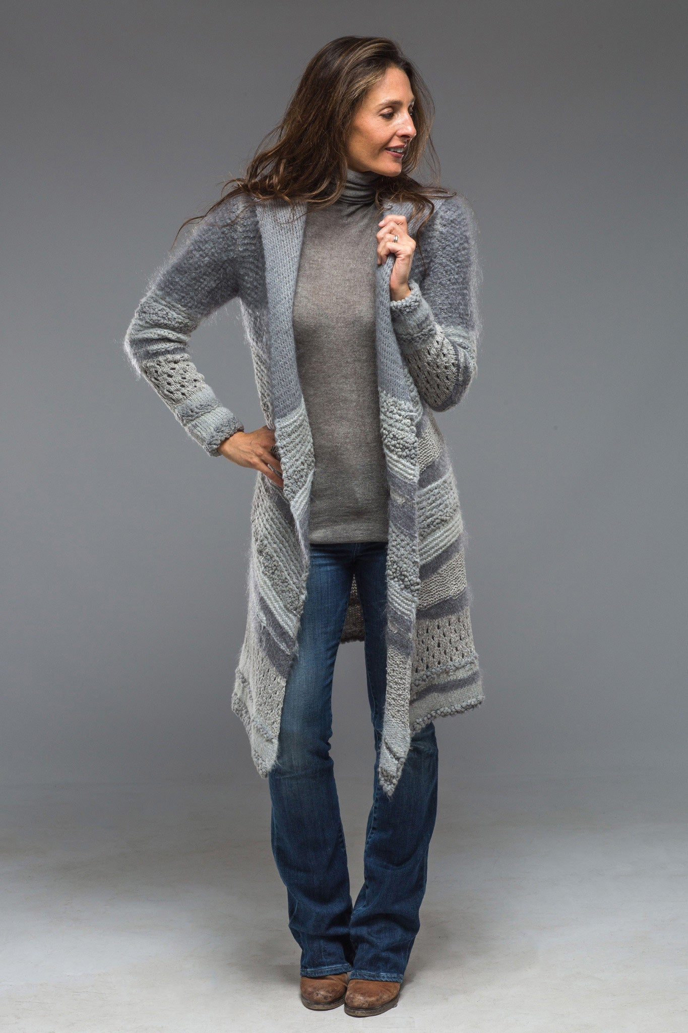 Atacama Long Hooded Sweater in Ice (4286540546141)