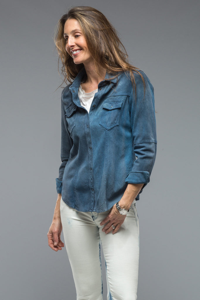 Esperanza Suede Shirt In Dark Blue (4666161725533)