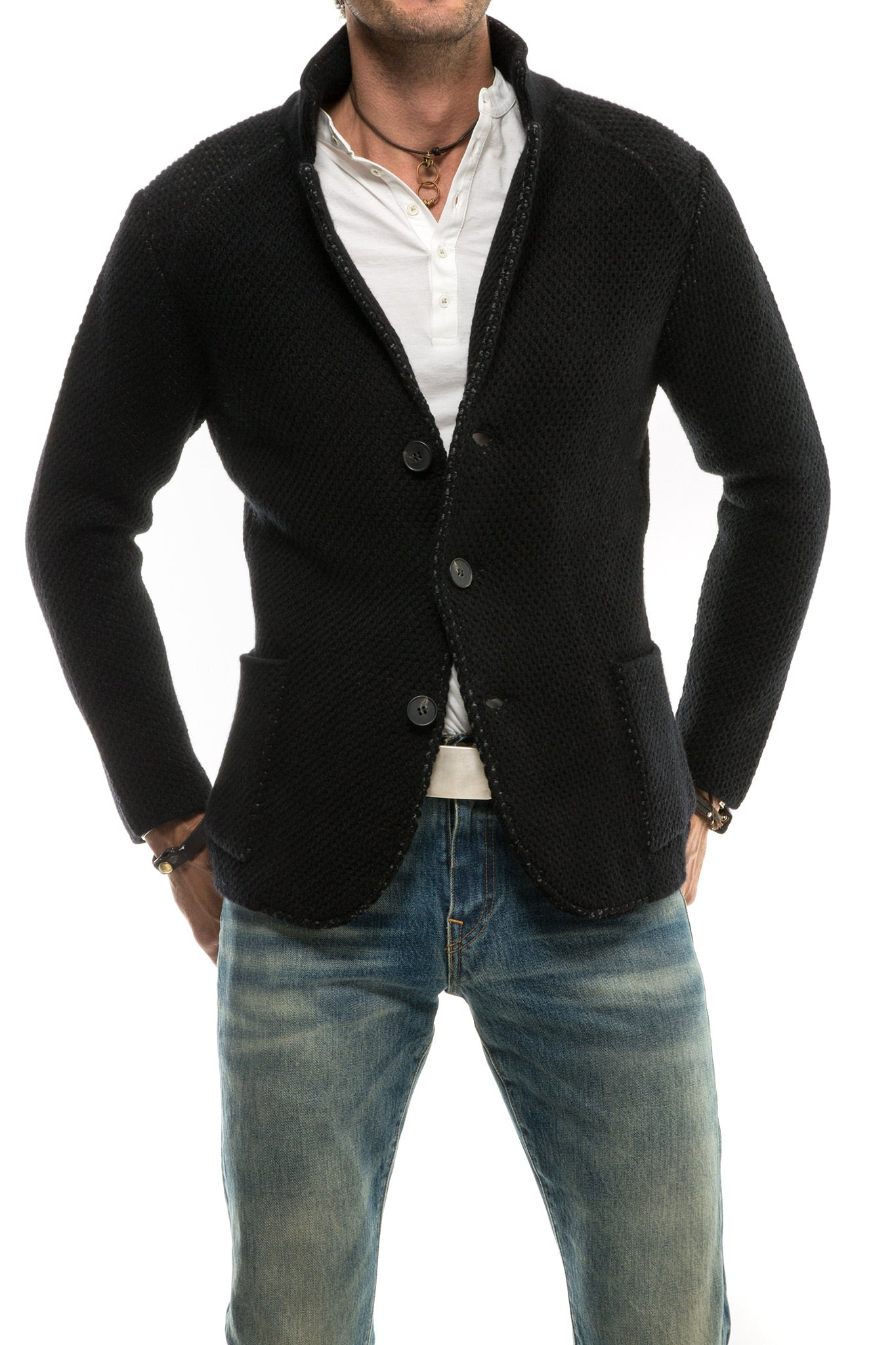 Axel's Black Ritornato Sweater Jacket (3564110053469)