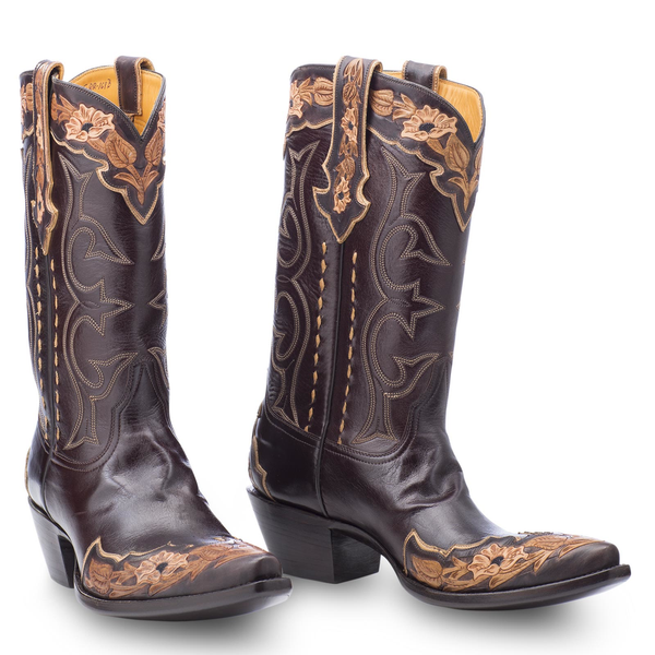 Stallion Boots Hand Tooled Calf - Mens - Cowboy Boots - AXEL'S - 2