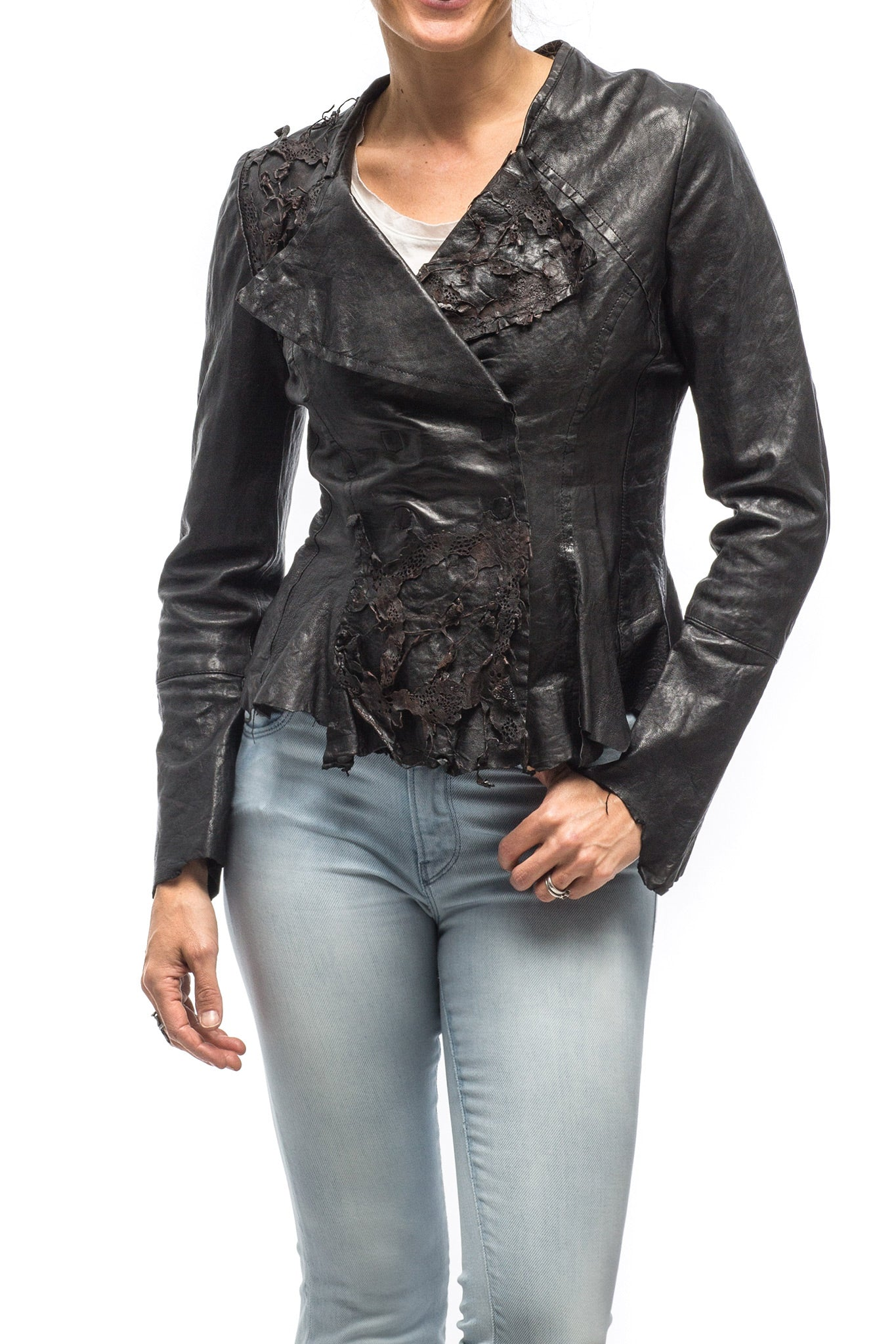 Dune Ophelia Leather Jacket in Black (3542400139357)