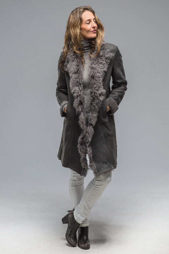 Salz Shearling Coat In Slate Grey (5897266069657)