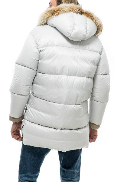 Axel's Pescara Down Jacket In Dirty White