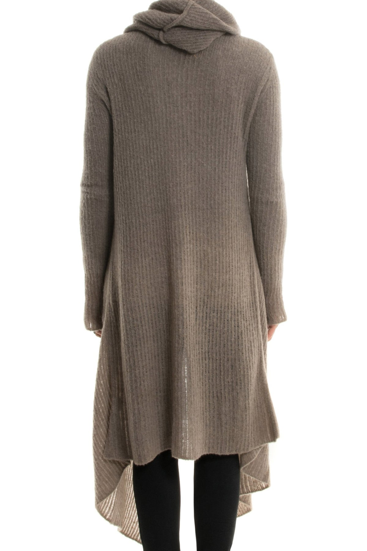Cora Long Hooded Sweater in Taupe (2012114092125)