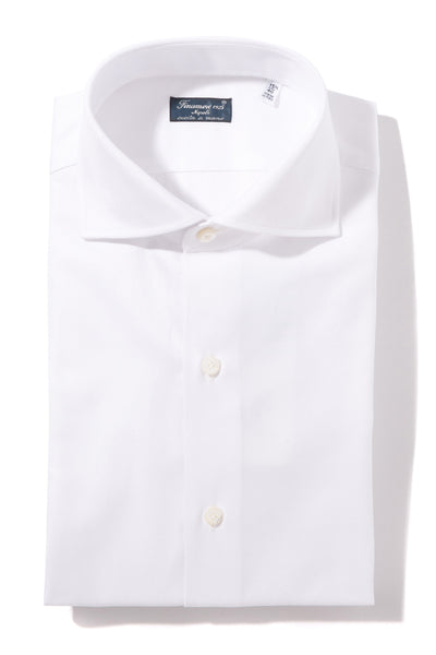 Finamore Oglio Herringbone Dress Shirt