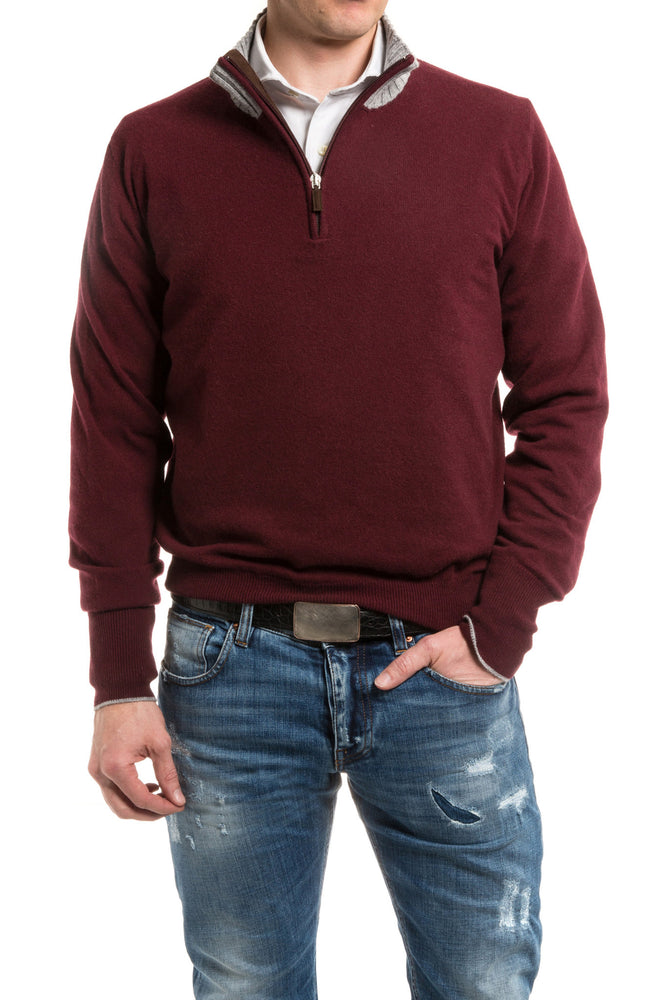 Axel's Milan Collection Balotelli Half Zip Cashmere Sweater