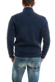 Axel's Conti Three-Gauge Cable Mock Sweater