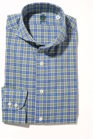 Axel's Crest Sherwood Check Shirt in Blue