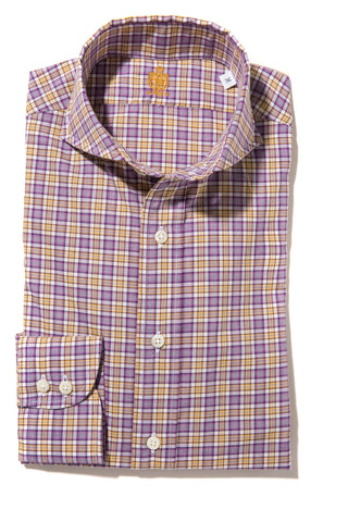 Axel's Crest Sherwood Check Shirt in Purple