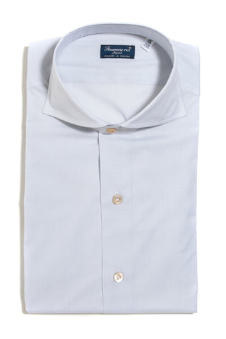 Finamore Gabbia Broadcloth Dress Shirt