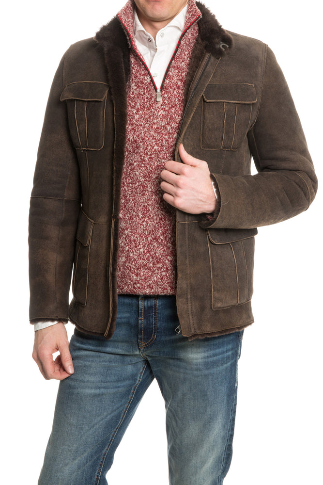 Gimo's Tarvisio Weathered Shearling Jacket